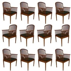 """Stunning Davis Allen for Knoll """"Exeter"""" Spindle Dining or Office Chairs"""