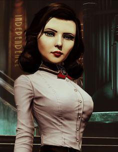 Bioshock Artwork, Bioshock 1, Bioshock Series, Bioshock Infinite Elizabeth, Elizabeth Comstock, Infinite Game, Fallout New Vegas, Fallout 3, Anime Pixel Art