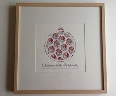 Personalised Family Christmas at the... paper cut print