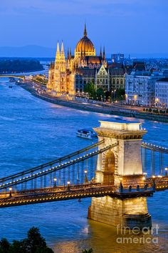 Evening in Budapest, Hungary