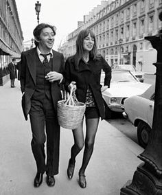cool chic style fashion: Jane Birkin + Birkin bag Hermès + Icon + basket style