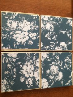 floral abundance~ sealed artisan coasters.. a unique addition to any home