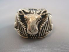 By Ezi Zino Sterling Silver 925 Goat Devil Ring