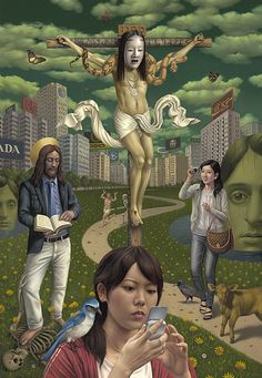 "The Art of Alex Gross - Paintings - Mammon  | Oil on Canvas | 78"" x 54"" 
