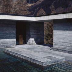 artemikiThe right view @_roomonfire #inspiration #fantasy #architecture #space #location #landscape #thermevals #graubünden #switzerland #peterzumthor p:HeleneBinet @7132hotel
