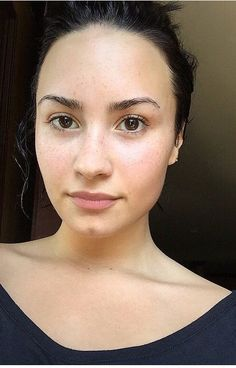 Demi's no makeup Monday. Love these no makeup celebrities! Helping teach confidence! #iwokeuplikethis