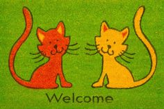 Cats Coir (Coco) Welcome Mat