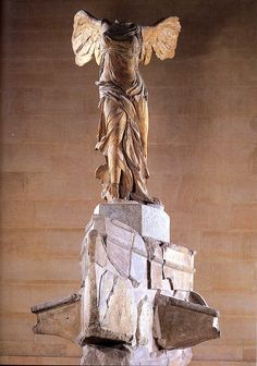 Winged Victory...2nd Century BC marble sculpture housed in the Louvre.