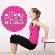 4-Minute Full Body Chair Challenge #miniworkout #homeworkout #quickworkout