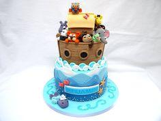 Noah's Ark Christening Cake! - by hellobabycakes @ CakesDecor.com - cake decorating website