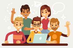 Flat design for website and teamwork concept. People team woman and man, business group illustration people Flat Design Illustration, People Illustration, Manga Illustration, Character Illustration, Coffee Illustration, Graphic Illustration, Character Flat Design, Business Cartoons, Design Reference