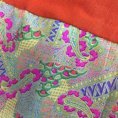 Geometric Floral Silk Headband