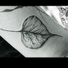 Bo tree leaf  @namastetattoostudio - #bodhi #botree #sacred #thai #thailand…