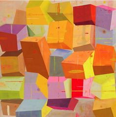 Geometric Abstract Painting by Deborah Zlotsky Geometric Art, Colorful Art, Abstract Artists, Geometric Painting, Abstract Painting, Abstract Drawings, Painting, Art, Abstract