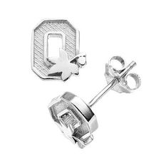 Ohio State Buckeyes Sterling Silver Logo Stud Earrings