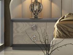 Lacquered bedside tables . Mod. KLII-76004
