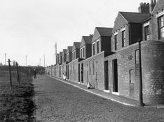 A back street of the pit village of Craghead, County Durham. Top end of Oustley Terrace Nos 18+ This had a direct view of pit. just up from Holmside Terrace