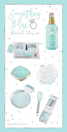 Before your wedding, you'll want to make sure you have something borrowed and something blue. Featuring super fun party favors and gifts like sparkly jewel-adorned bottle stoppers, diamond bottle openers and more, your wedding shower guests are sure to love something blue bridal shower favors | Something Blue Bridal Shower Favors Collection | My Wedding Favors