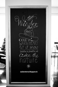 chalkboard winter
