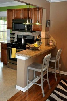 37 Small Kitchen Ideas To Inspire and Copy Small Kitchen Remodel Copy Ideas Insp. - 37 Small Kitchen Ideas To Inspire and Copy Small Kitchen Remodel Copy Ideas Inspire Kitchen Small - Small Kitchen Bar, Kitchen Bar Counter, Kitchen Bar Design, New Kitchen Cabinets, Kitchen Layout, Interior Design Kitchen, Kitchen Countertops, Kitchen Shelves, Kitchen Decor