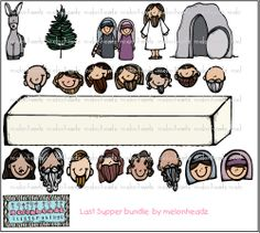 Last Supper bundle by melonheadzdoodles on Etsy