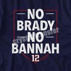 No Brady No Bannah NFL Patriot Heat Transfer Printing