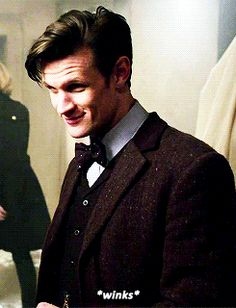 wink gif - I've never thought Matt Smith's Doctor was sexy before, but there is something about that wink, lol