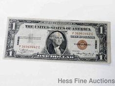 Scarce 1935-A United States Hawaii WWII Issue $1 One Dollar Silver Certificate #SmallBankNote
