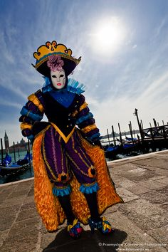 A brilliantly rainbow colored costume from Carnival in Venice 2011 ~ Kilanowski Photography | Flickr - Photo Sharing!