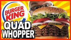 Burger King ★ Secret Menu Item ★ QUAD WHOPPER w Bacon and Cheese - Food ...