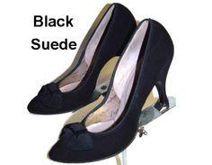Vintage 1950s Heels Black 1950s Pumps Spike Pumps Stilluetos Pinup Bombshell Dress Garden Party Office Wedding Career Designer Dress by ByMidnightSparkle on Etsy https://www.etsy.com/listing/117064237/vintage-1950s-heels-black-1950s-pumps