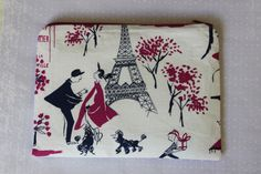 Paris Zipper Pouch  - pinned by pin4etsy.com
