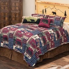 Quilt Bedding, Bedding Sets, Black Forest Decor, Lodge Bedroom, Quilt Sets Queen, How To Clean Pillows, Rustic Bedding, Accent Pillows, Blanket Cover