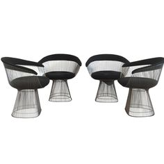 Warren Platner for Knoll Dining Chairs, Set of Four