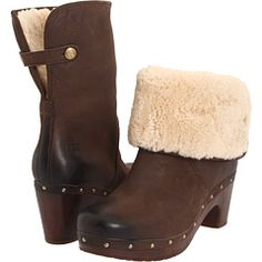 Ugg clog boots...got them for Christmas in black. Now trying to curb my compulsion to go buy these brown ones.