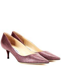 JIMMY CHOO Aza Glitter Leather Pumps. #jimmychoo #shoes #pumps