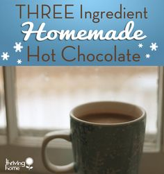 Stop spending money on those expensive little packets loaded with artificial ingredients and make your own hot chocolate at home with simple pantry items. This hot chocolate recipe only needs three, yes THREE, ingredients. Give it a try!