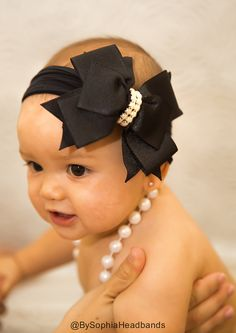 Hey, I found this really awesome Etsy listing at https://www.etsy.com/listing/186038264/baby-headband-headwrap-black-baby