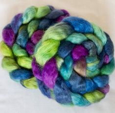 Excited to share the latest addition to my #etsy shop: Teeswater, hand painted tops, felting projects, hand dyed roving, dolls hair, Handspinning, spindling, Core spinning