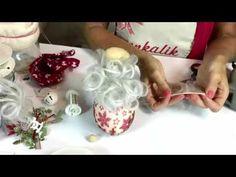 Video #CreattivaChannel - Decorazione di Natale porta dono e stella Natalizia - YouTube