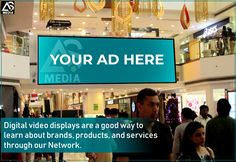 For advertisers to promote their brands to a mix of market segments,the advt soul offers digital branding as an elucidation through LED Screens of varied sizes that uninterruptedly displays the advertisements across all public places. Advertising Services, Screens, Public, Branding, Ads, Marketing, Learning, Digital, Places