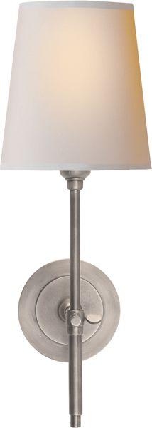 BRYANT SCONCE - available in polished nickel 14.25hx5.5 round 1-60watt type A/keyless socket $200 @ circa lighting