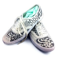 Stockade's Blog: Zentangle a pair of Shoes! by melva
