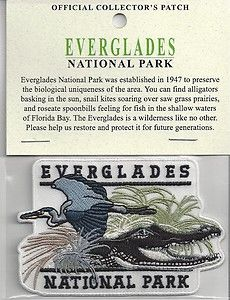 Souvenir Patch Brand New Everglades National Park Patch Everglades National Park Florida, Florida Bay, National Park Patches, National Parks Usa, Travel Souvenirs, Iron On Patches, Badge, Label, Illustrations