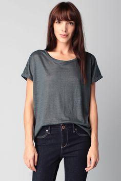Short sleeve Top - taline - Green/Khaki School Rag on MonShowroom.com