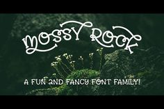 Mossy Rock fun font family! from FontBundles.net
