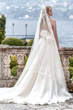 The veil. But chapel length.      victoria f 2017 bridal strapless beautiful princess ball gown wedding dress low back chapel train (untitled 01) bv mv