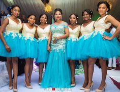 Stunning Bridesmaids Outfits for your big dayWedding Digest Naija African Bridesmaid Dresses, African Dresses For Kids, African Wedding Attire, Bridesmaid Outfit, Latest African Fashion Dresses, Black Prom Dresses, Bridesmaid Robes, African Traditional Dresses, Bridesmaid Dresses