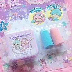 【2015】★Ear Plugs With Case ★Seria 100均  ★ #SanrioLicenseJapan ★ #LittleTwinStars