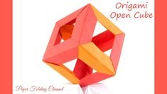 Origami Open Cube 3D - YouTube